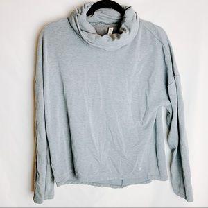 Apana Gray Turtleneck Activewear Top